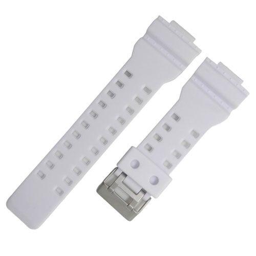 ac2986bcc076 Correa resina blanca 16mm Casio G-Shock GA-100 G-8900 GW-. Correa de resina  de color blanco. Para los relojes ...