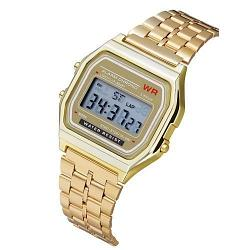 Reloj digital retro A159 Dorado