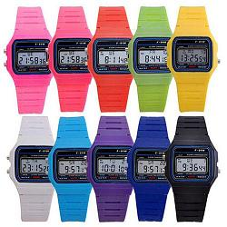 Reloj digital retro F-91W F91W colores 1