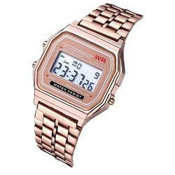 Reloj digital retro A159 Oro rosa 1