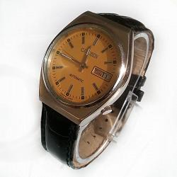 Reloj Citizen Automatic cuerda manual 21 Jewel crema vintage 1